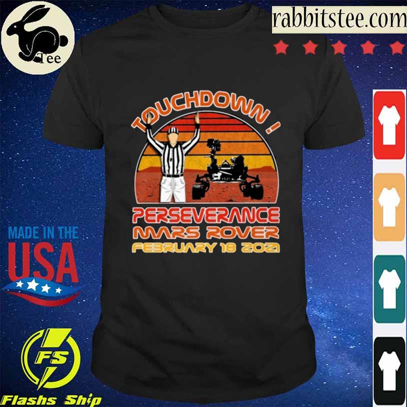 Touchdown Perseverance Mars Rover February 2021 Sunset Vintage Shirt
