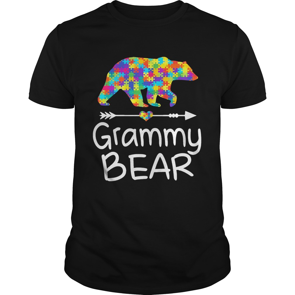 Grammy Bear Autism Awareness TShirt Autism Gift guy TShirt