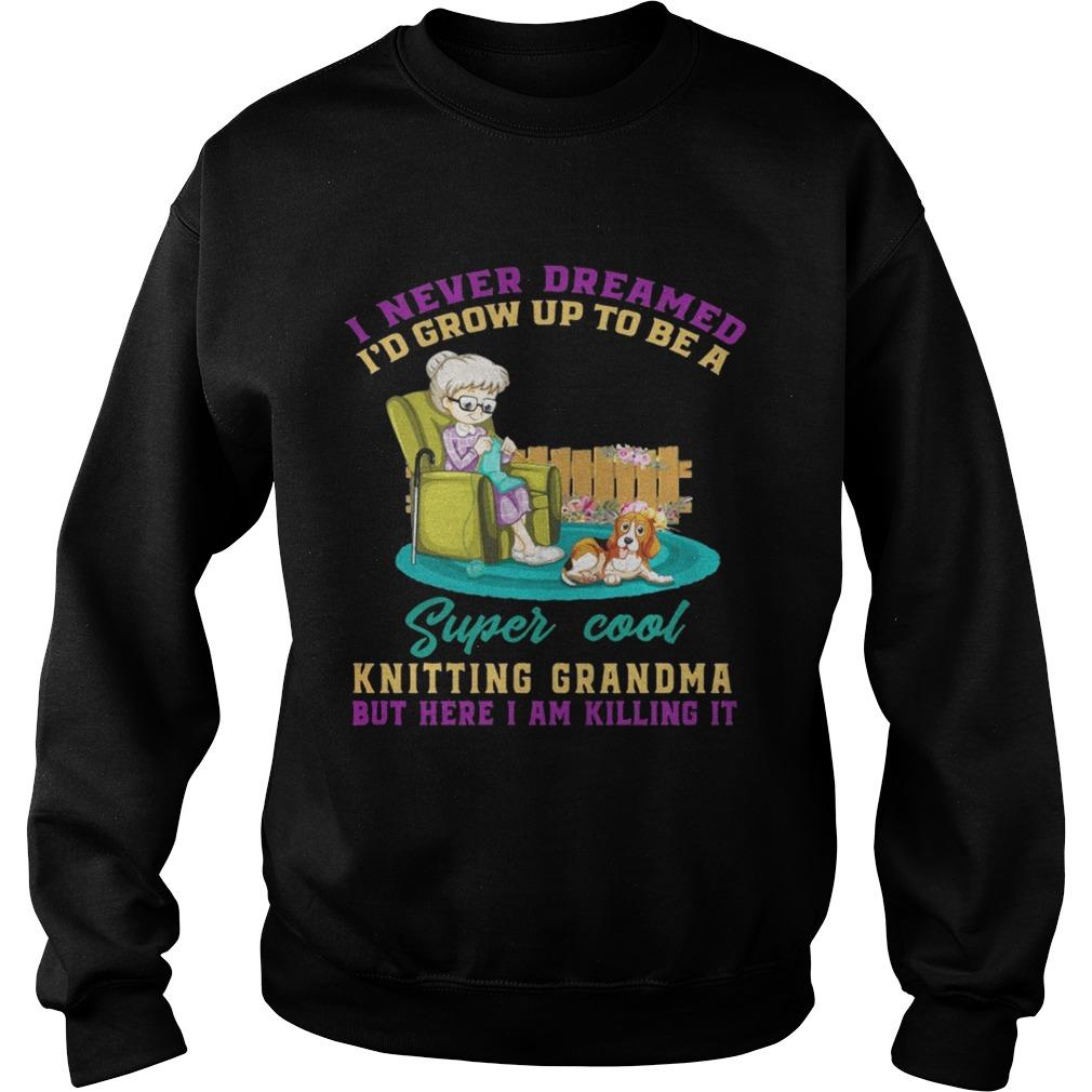 I Never Dreamed Id Grow Up To Be A Super Cool Knitting Grandma sweat TShirt
