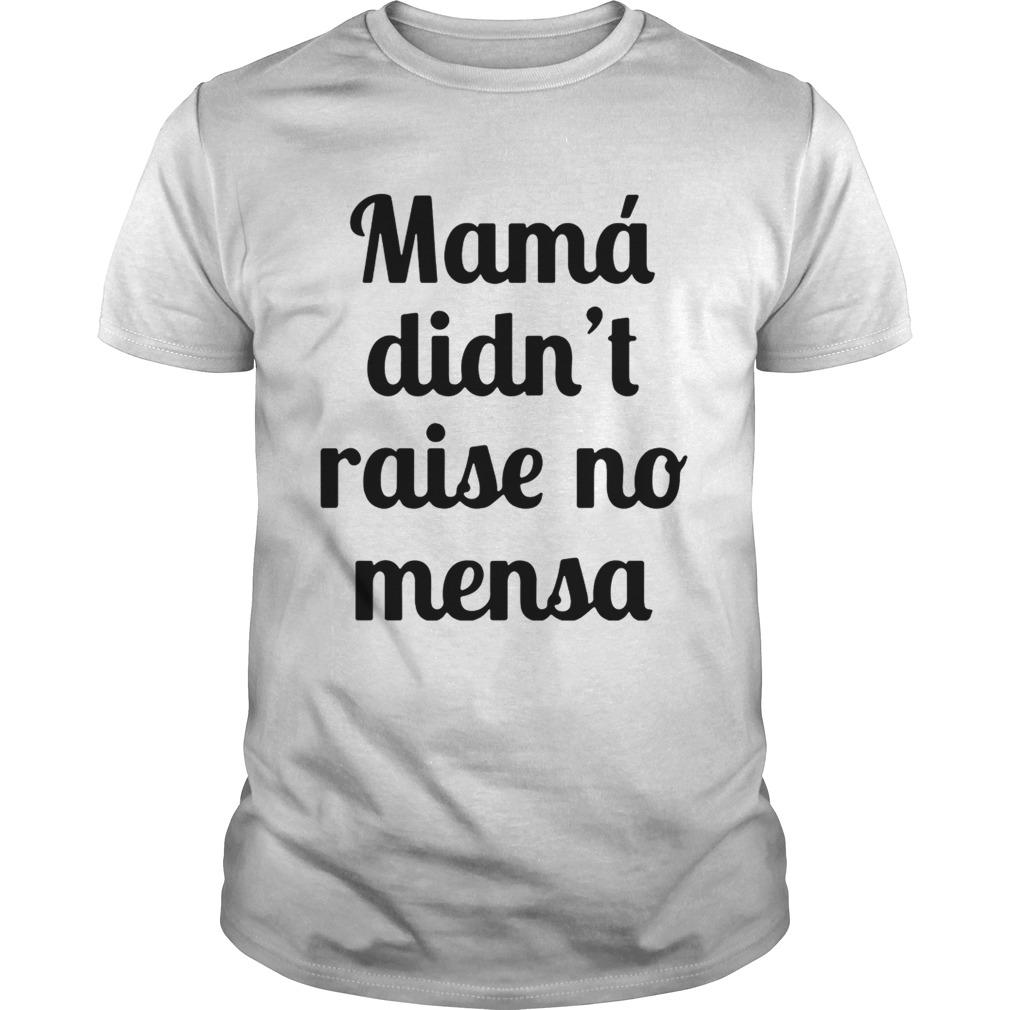 Mama didnt raise no mensa guy shirt