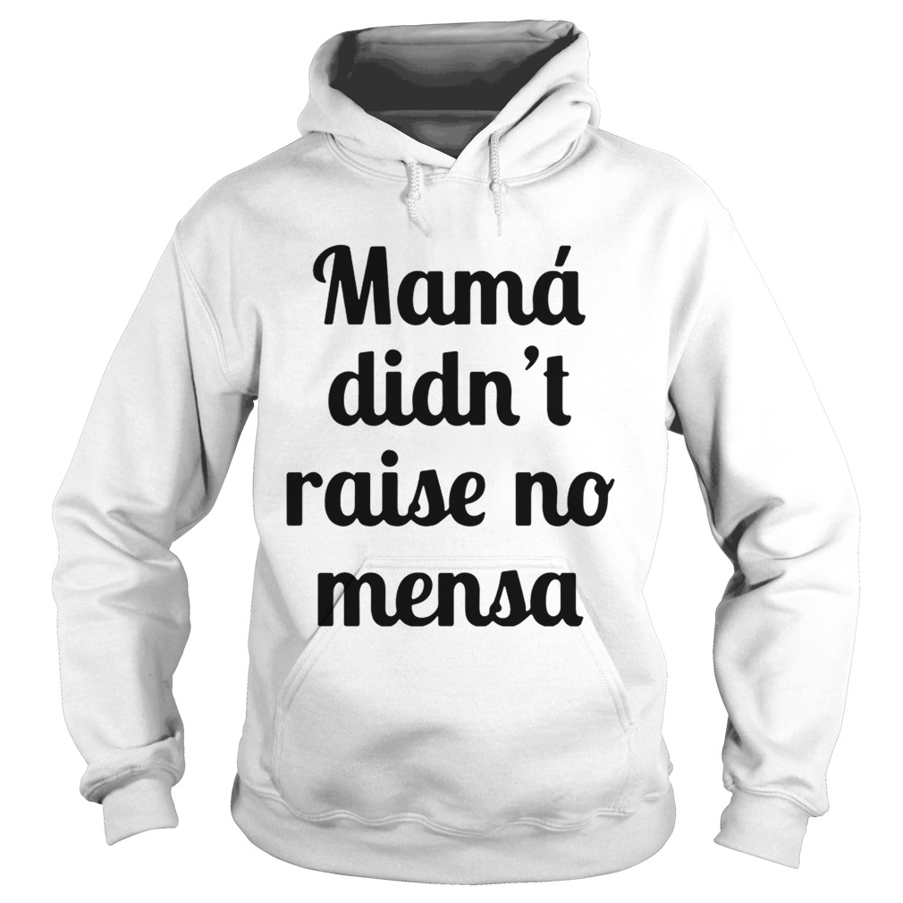 Mama didnt raise no mensa hoodie shirt
