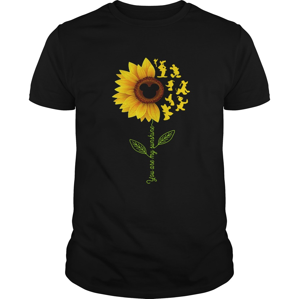 Sunflower you are my sunshine Disney Guy shirt