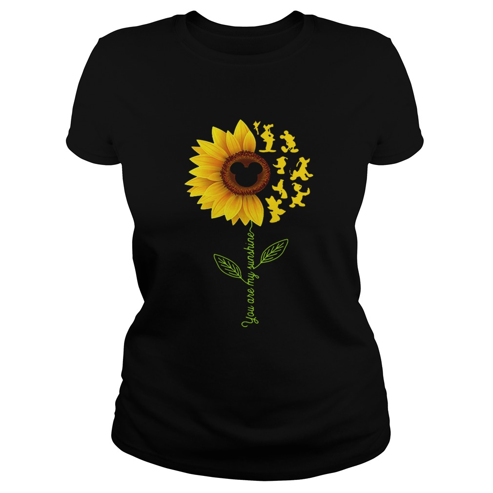 Sunflower you are my sunshine Disney Ladies shirt