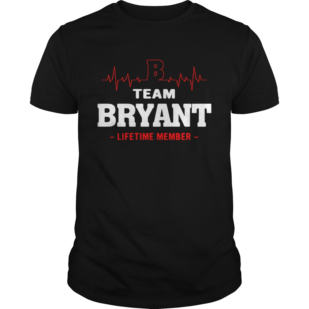 Team Bryant lifetime member guy shirt