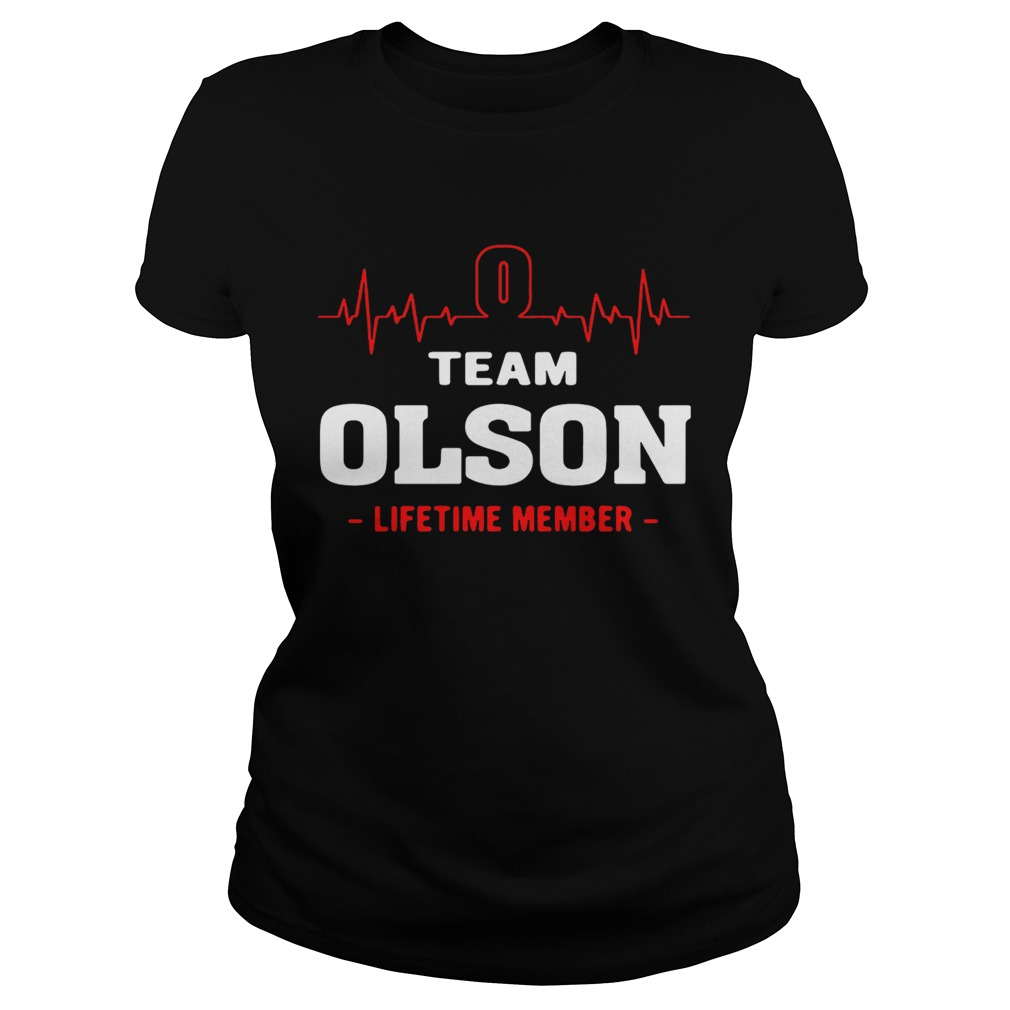 Team Olson lifetime member ladies shirt