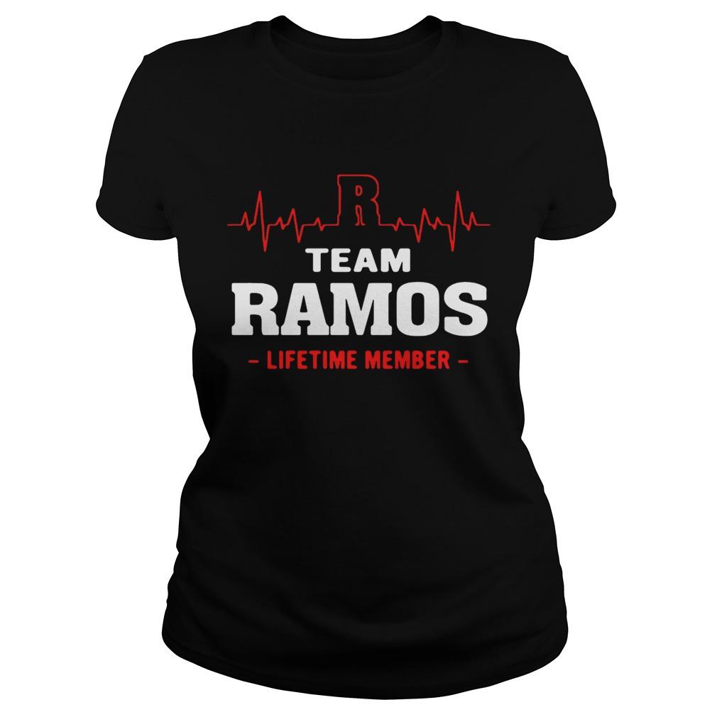 Team Ramos lifetime member ladies shirt