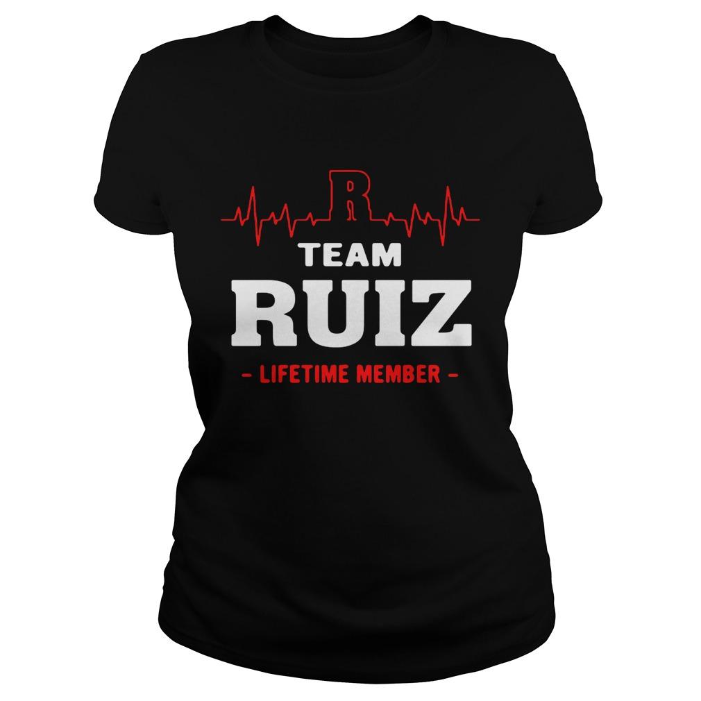 Team Ruiz lifetime member ladies shirt