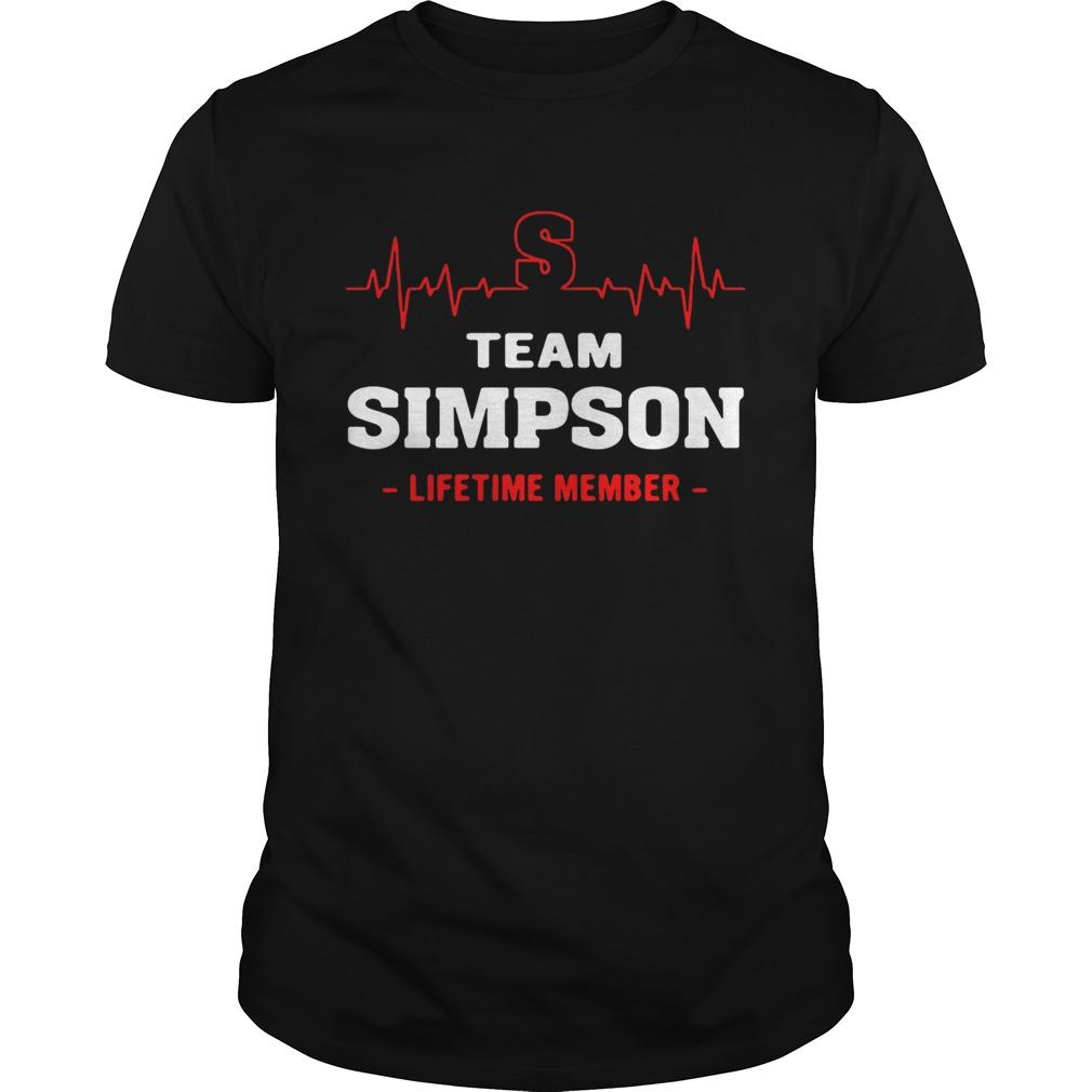 Team Simpson lifetTeam Simpson lifetime member guy shirtime member guy shirt
