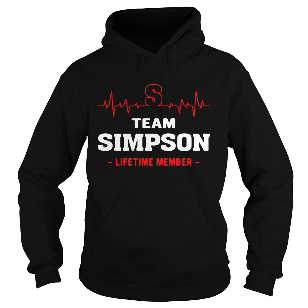 Team Simpson lifetime member hoodie shirt