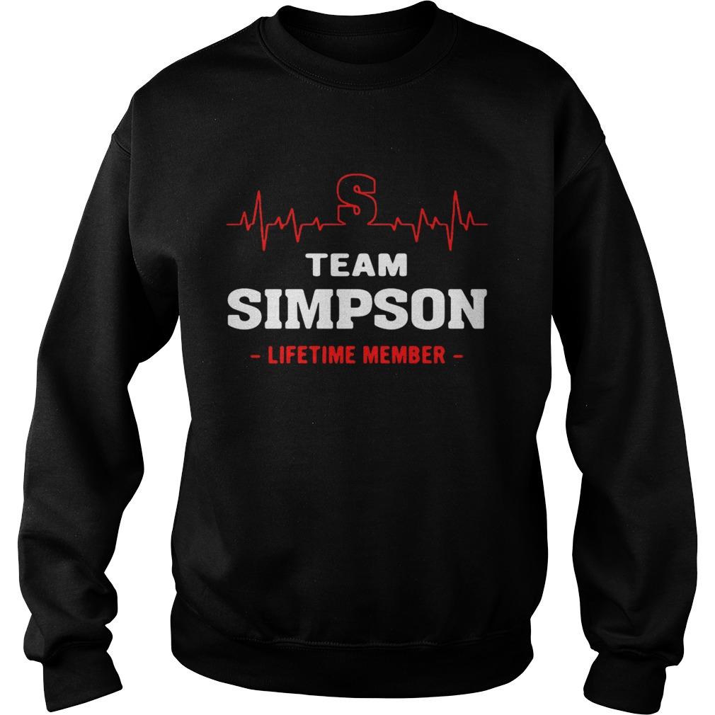 Team Simpson lifetime member sweat shirt