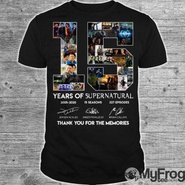 15 years of Supernatural thank you memories shirt