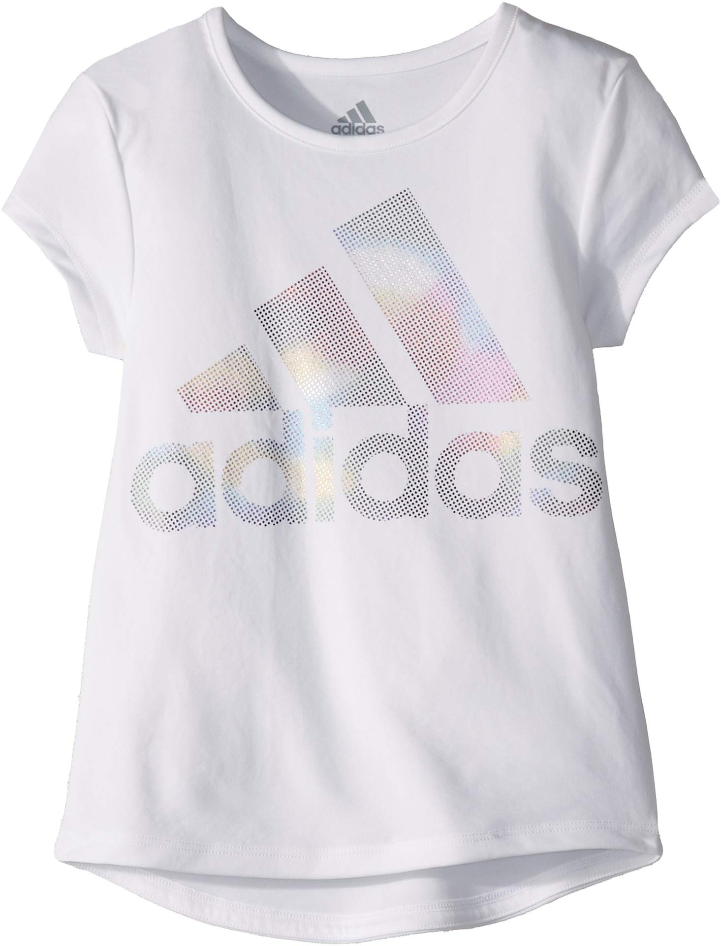 Rainbow Baby Shirt: Adidas Kids Baby Girl's Short Sleeve Rainbow Foil Shirt