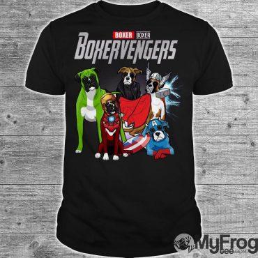 Boxer Boxervengers Marvel Avengers shirt
