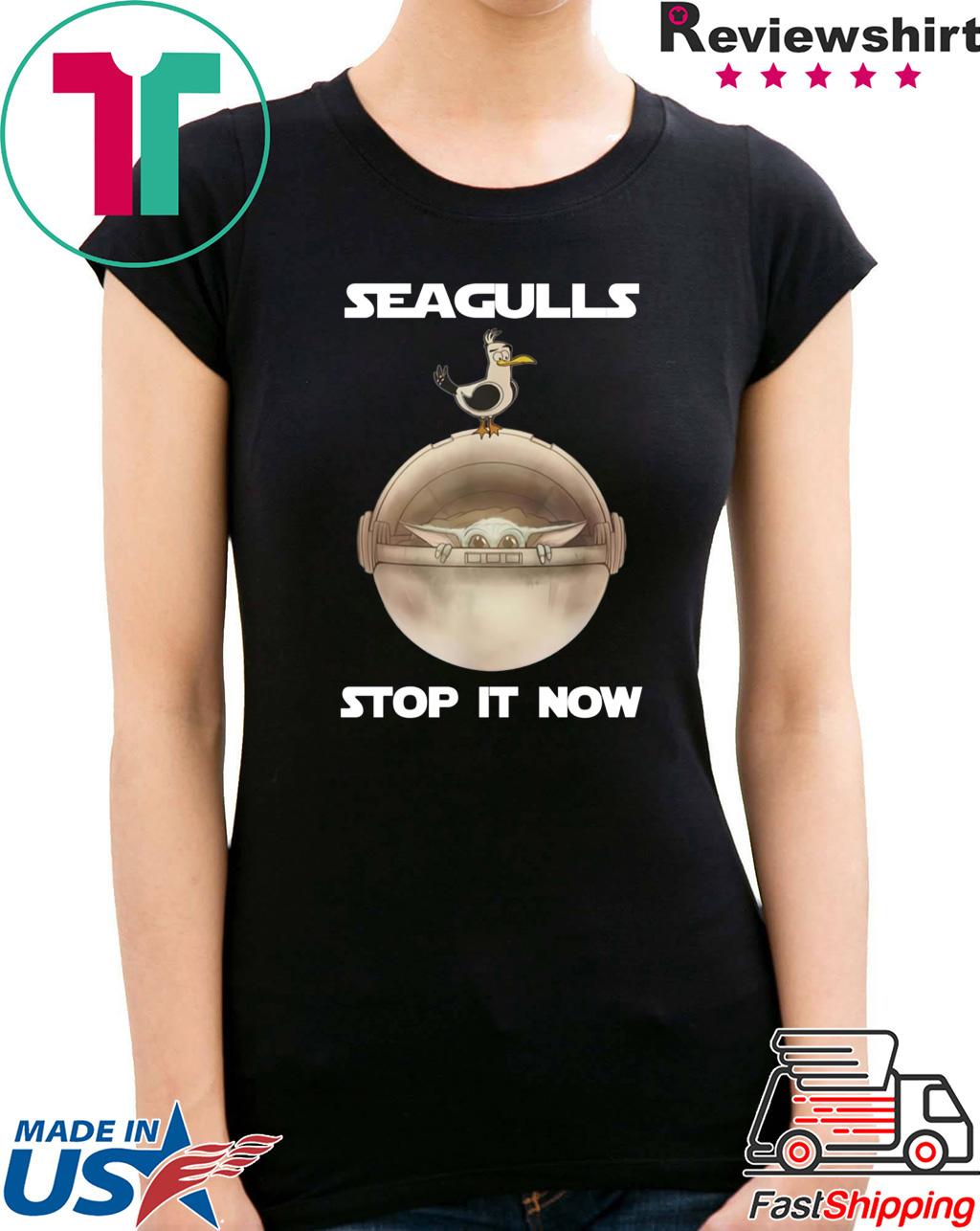 Baby Yoda Seagulls Stop It Now Shirt Christmas 2020