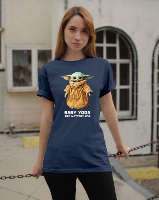 Baby Yoda Size matters not shirt Merry Christmas 2020