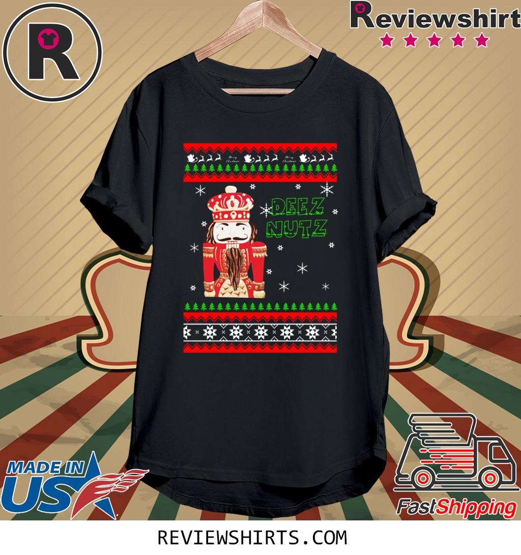 Hand Engraved Nutcracker DEEZ NUTZ Christmas Shirt