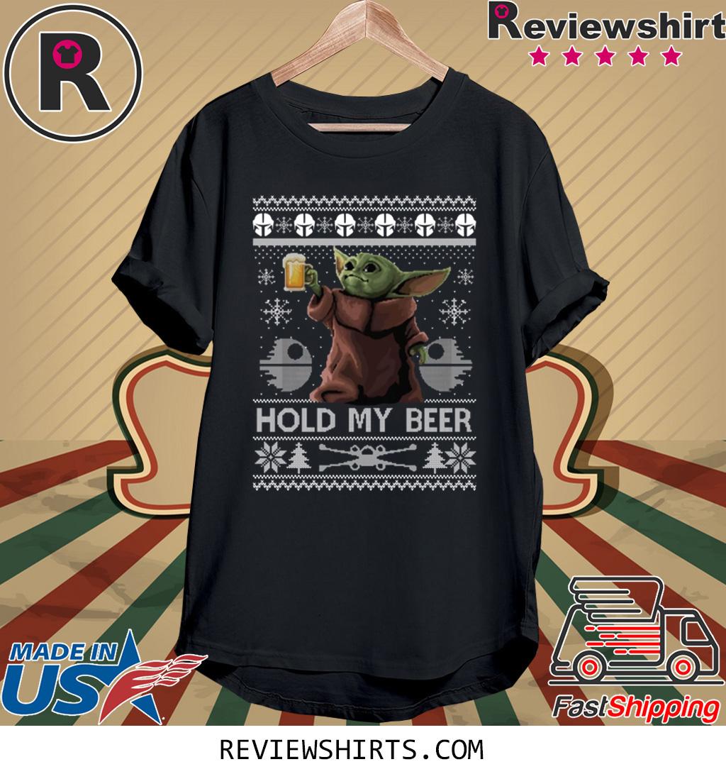 Hold My Beer Baby Yoda Christmas Shirt