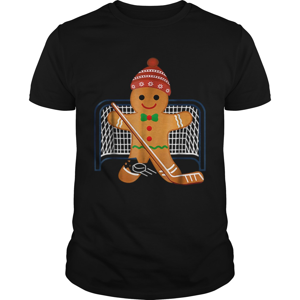 Hot Hockey Goalie Funny Christmas Gingerbread Man Goalie  Unisex