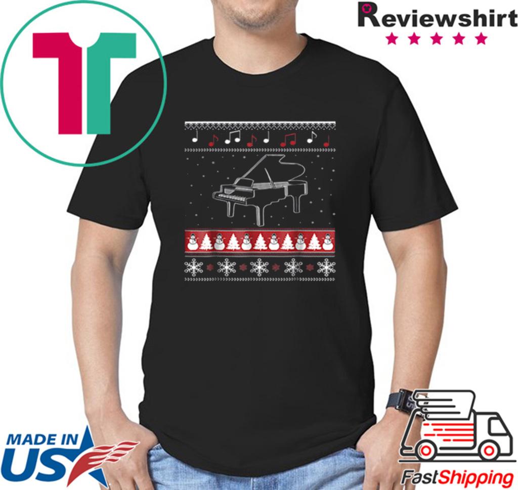 Piano Ugly Christmas shirt