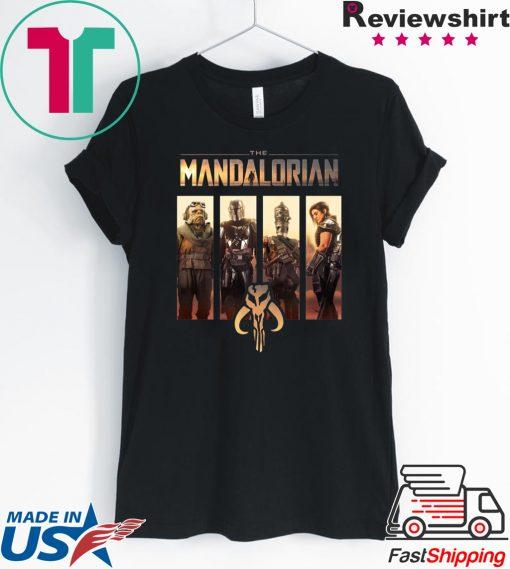Star Wars The Mandalorian Group Line Up Shirt