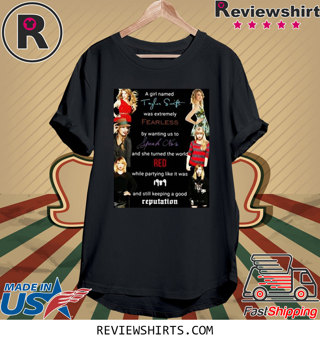 Taylor AMA Speak Now 1989 Red Fearless Shirt