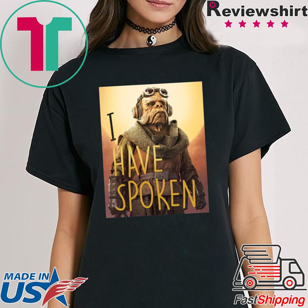 The Mandalorian Kuiil I Have Spoken Shirt