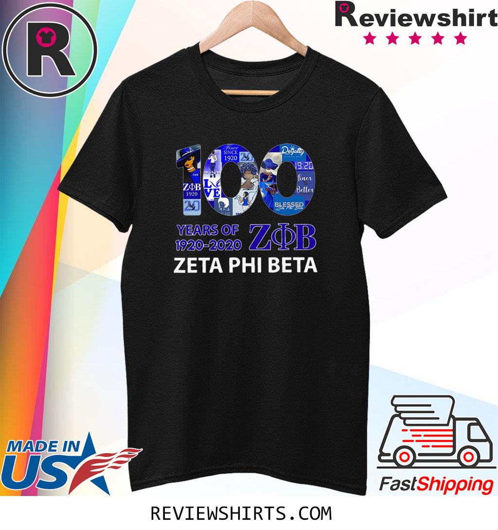100 Years Of 1920 2020 Zeta Phi Beta T-Shirt
