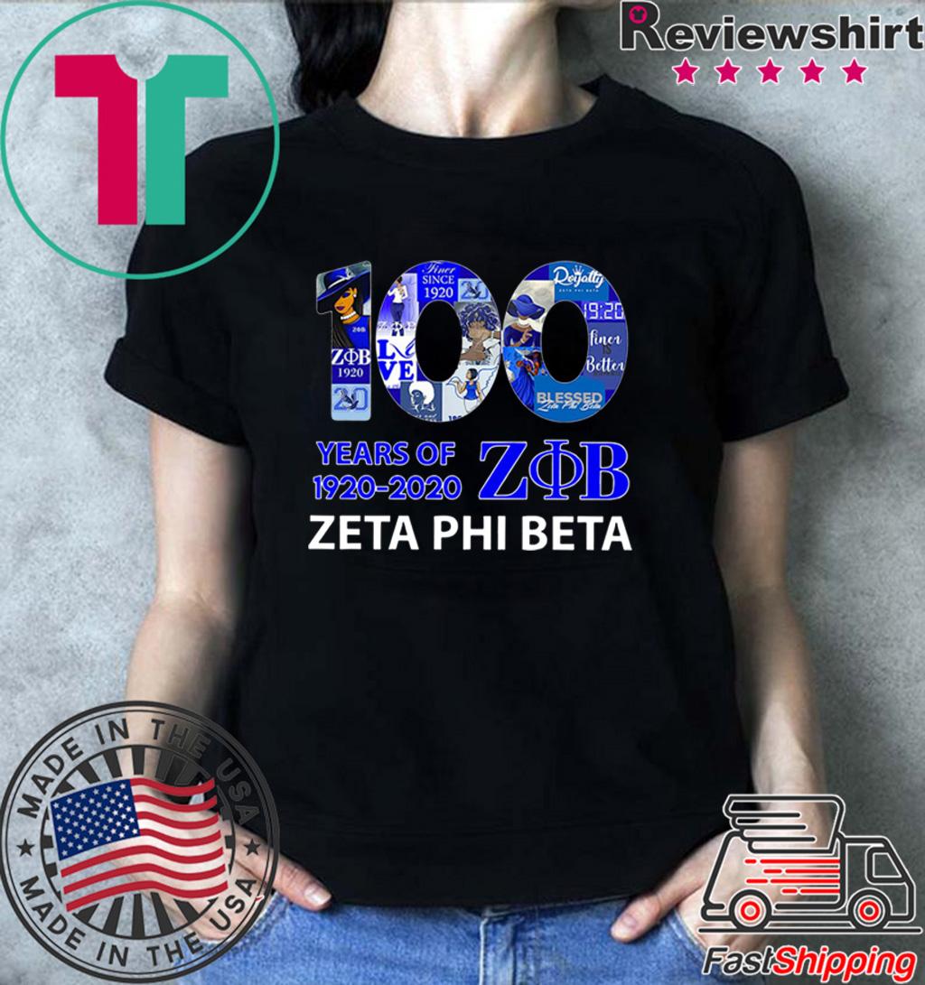 100 Years Of 1920 2020 Zeta Phi Beta Shirts