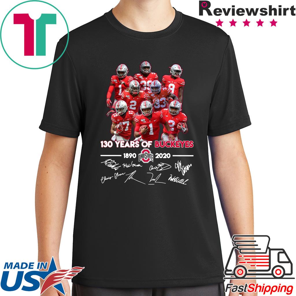 130 Years of Buckeyes 1890 2020 players signatures shirt