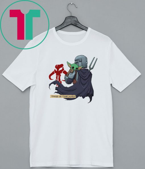 Baby Yoda Mandositting T-Shirt This Is The Way