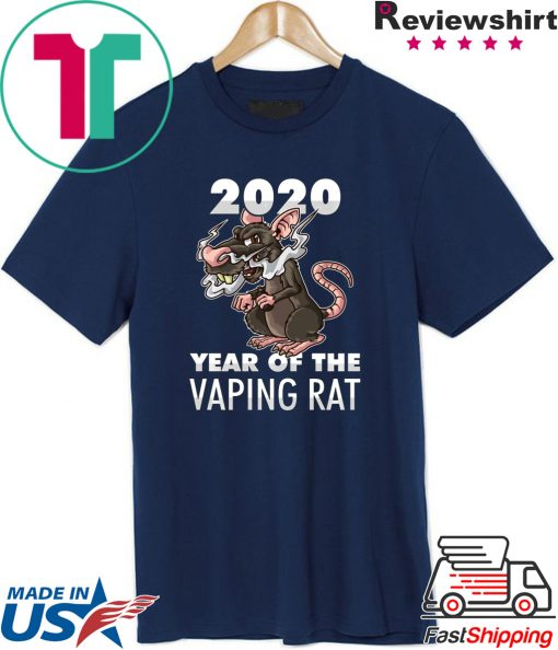 Happy New Year 2020 – Year Of The Vaping Rat T-Shirt