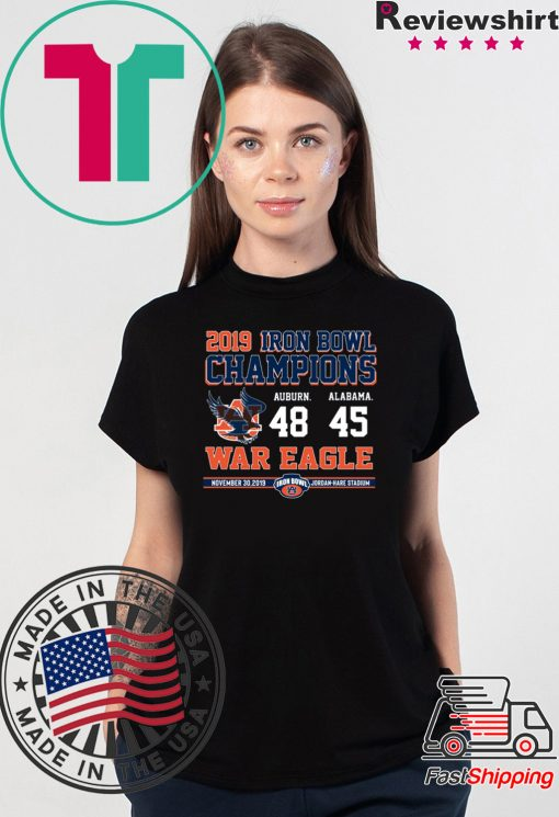 Iron Bowl Champions 2019 Auburn Tigers Offcial T-Shirt