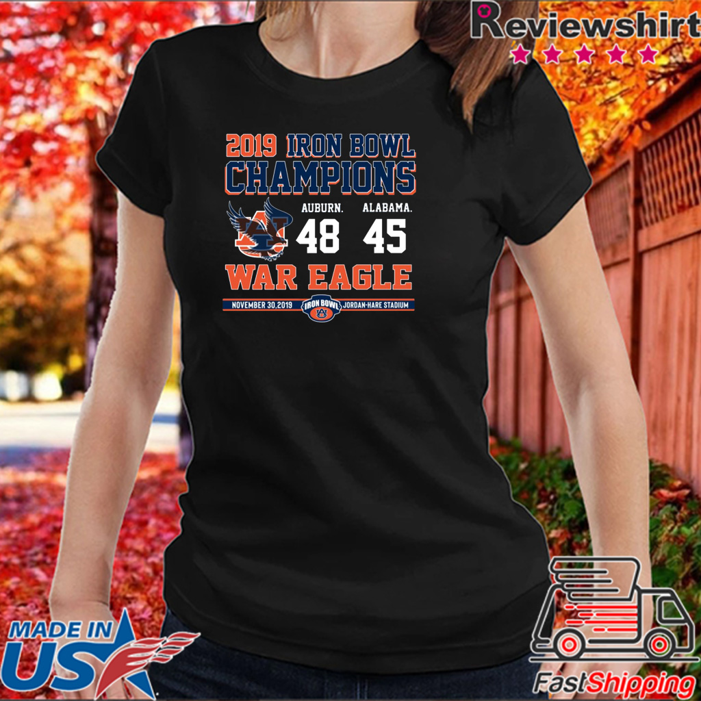 Iron Bowl Champions 2019 Auburn Tigers T-Shirt
