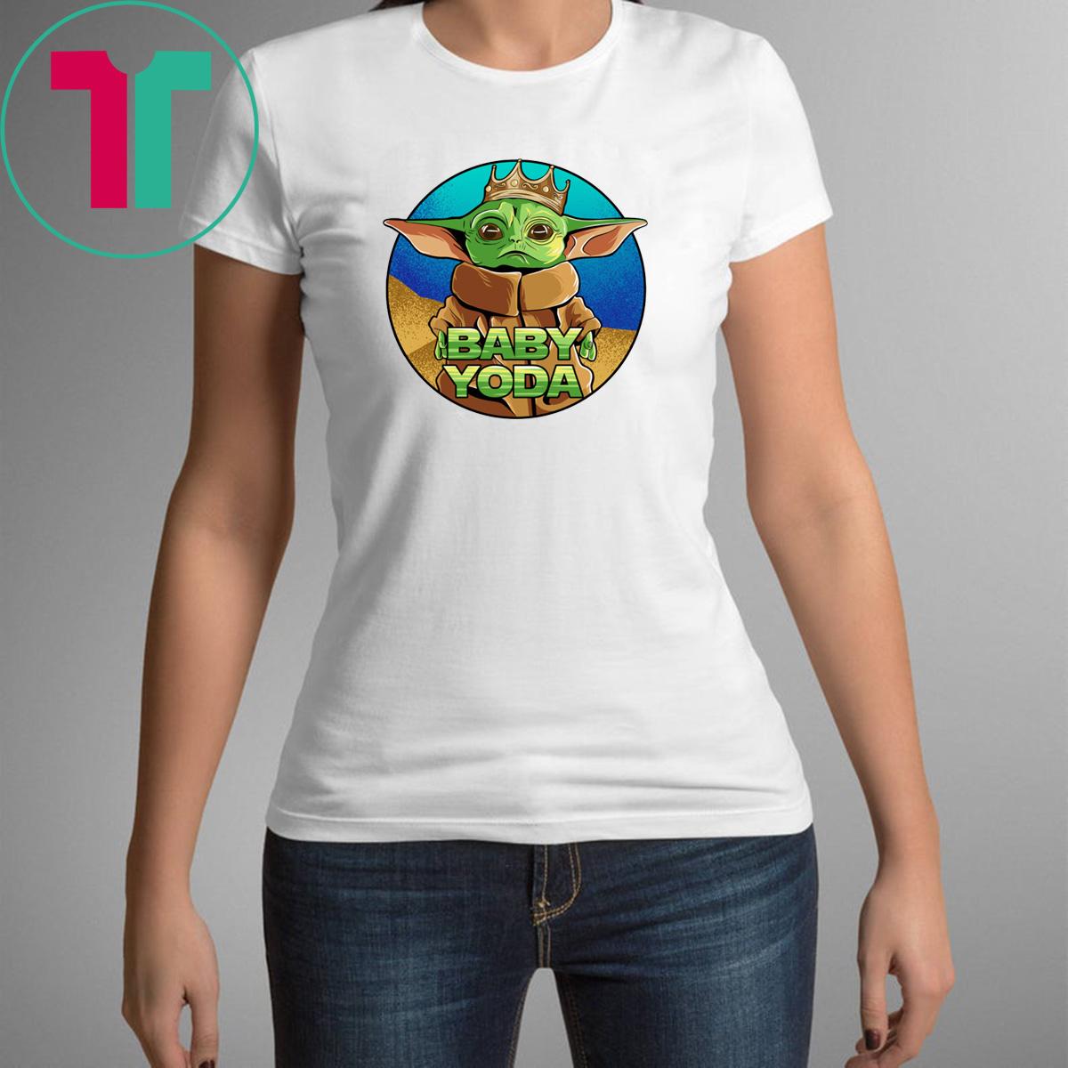 King Baby Yoda The Mandalorian T-Shirt