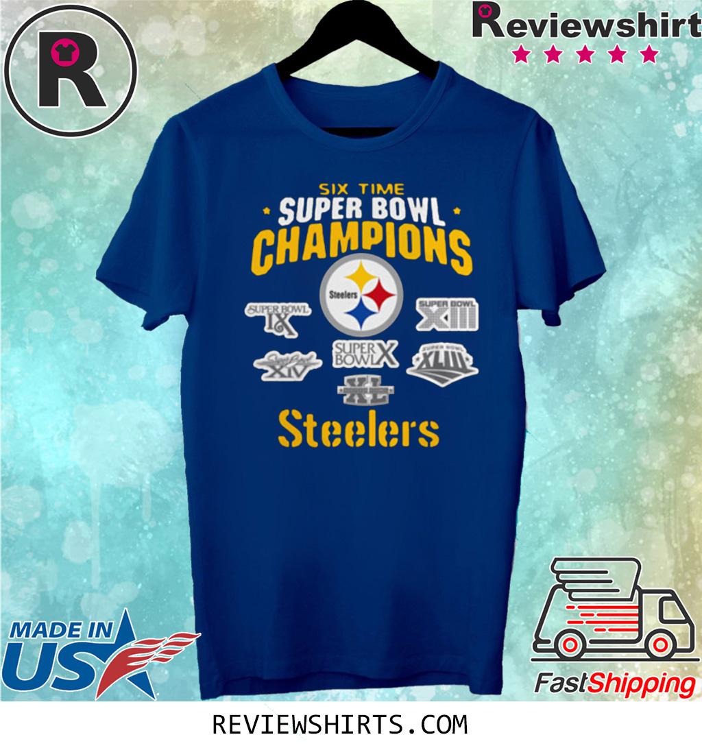 Pittsburgh Steelers NFL Six Time Super Bowl Champions Shirt