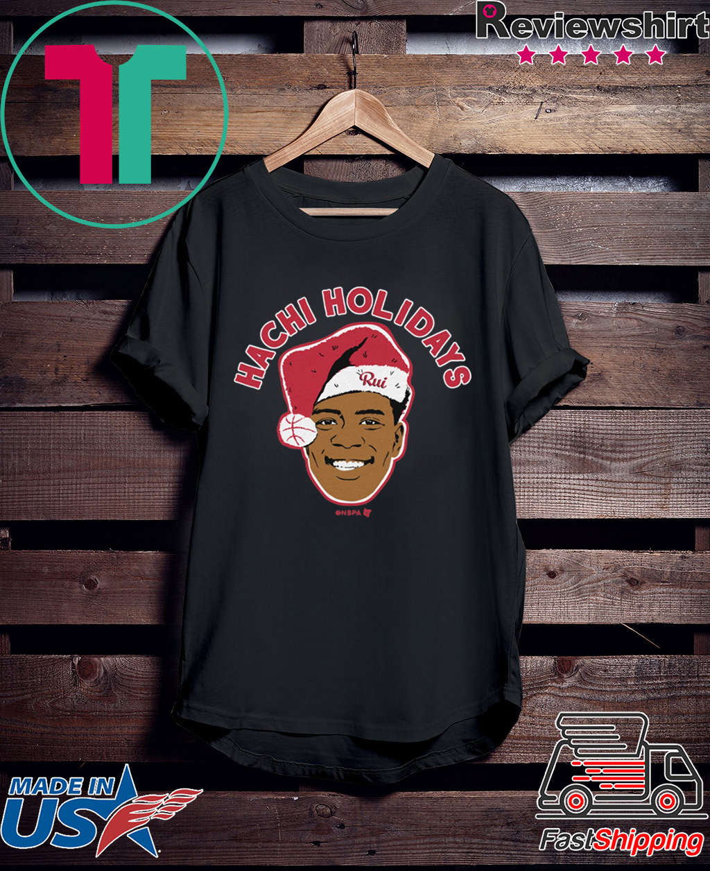 Rui Hachimura Holiday Shirt