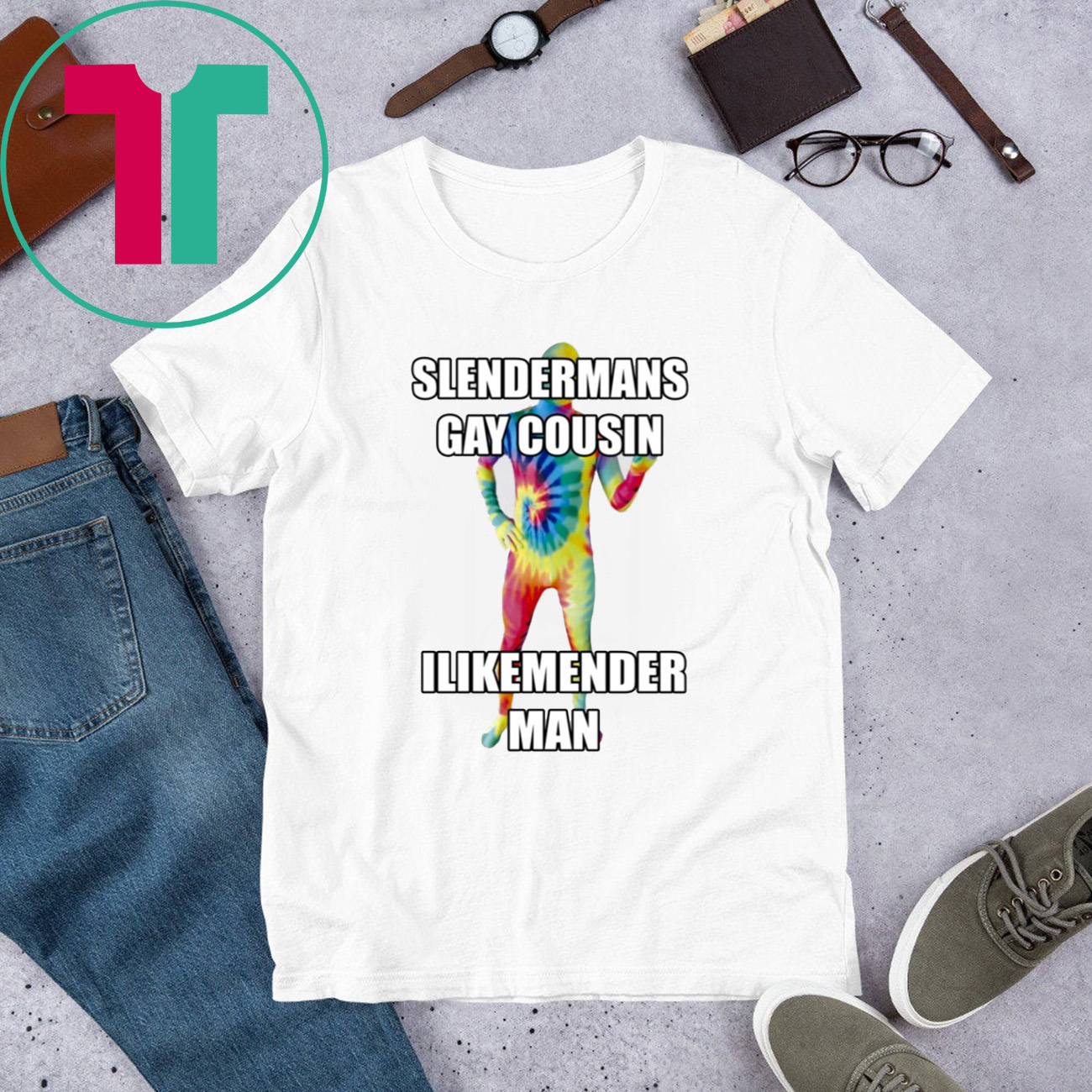 Slenderman Gay Cousin Ilikemender Man T-Shirt