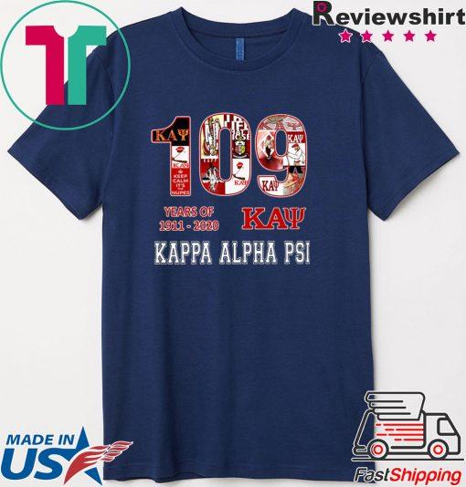 109 Years Of 1911 2020 Kappa Alpha Psi Shirt