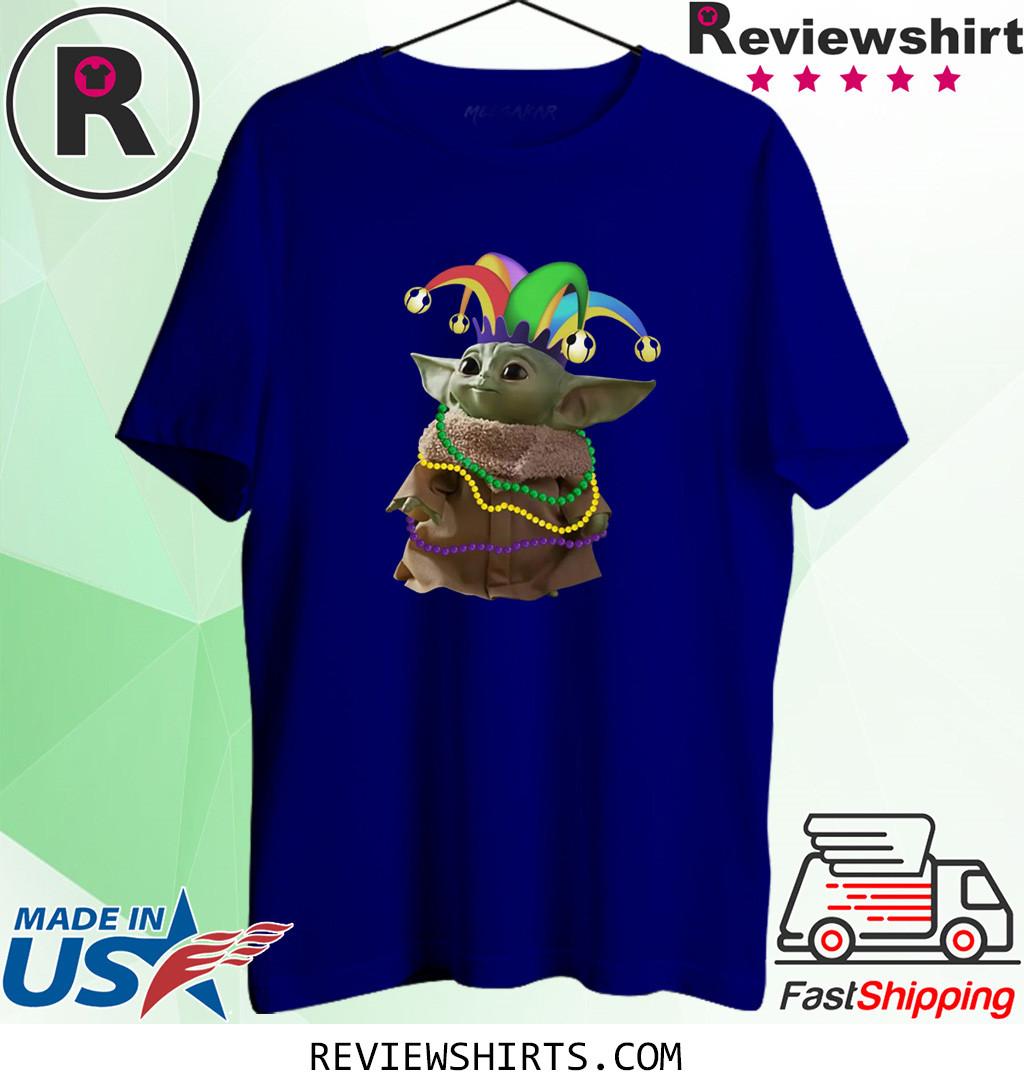 Baby Yoda Mardi Gras Shirt