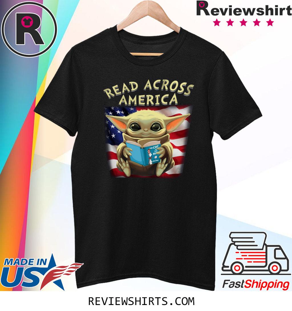 Baby Yoda Read Across America Flag Shirt