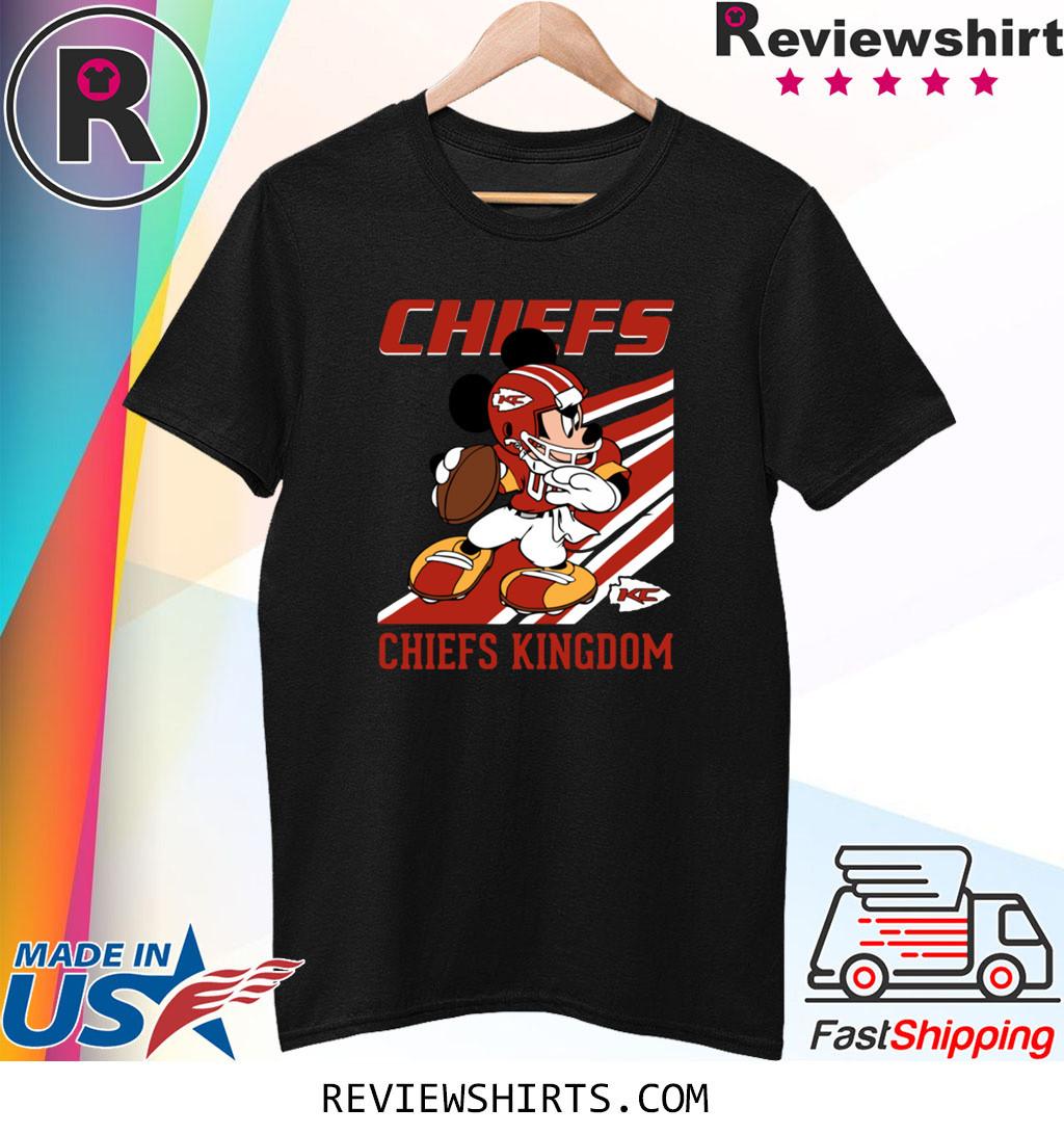 Kansas City Chiefs Slogan Chiefs Kingdom Mickey Mouse Shirt