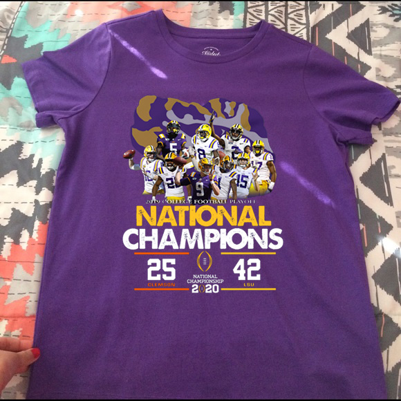 LSU National Championship 2020 Clemson 25 LSU 42 Shirt