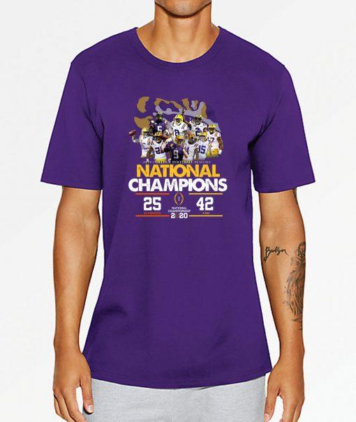 LSU National Championship 2020 Clemson 25 LSU 42 Shirt