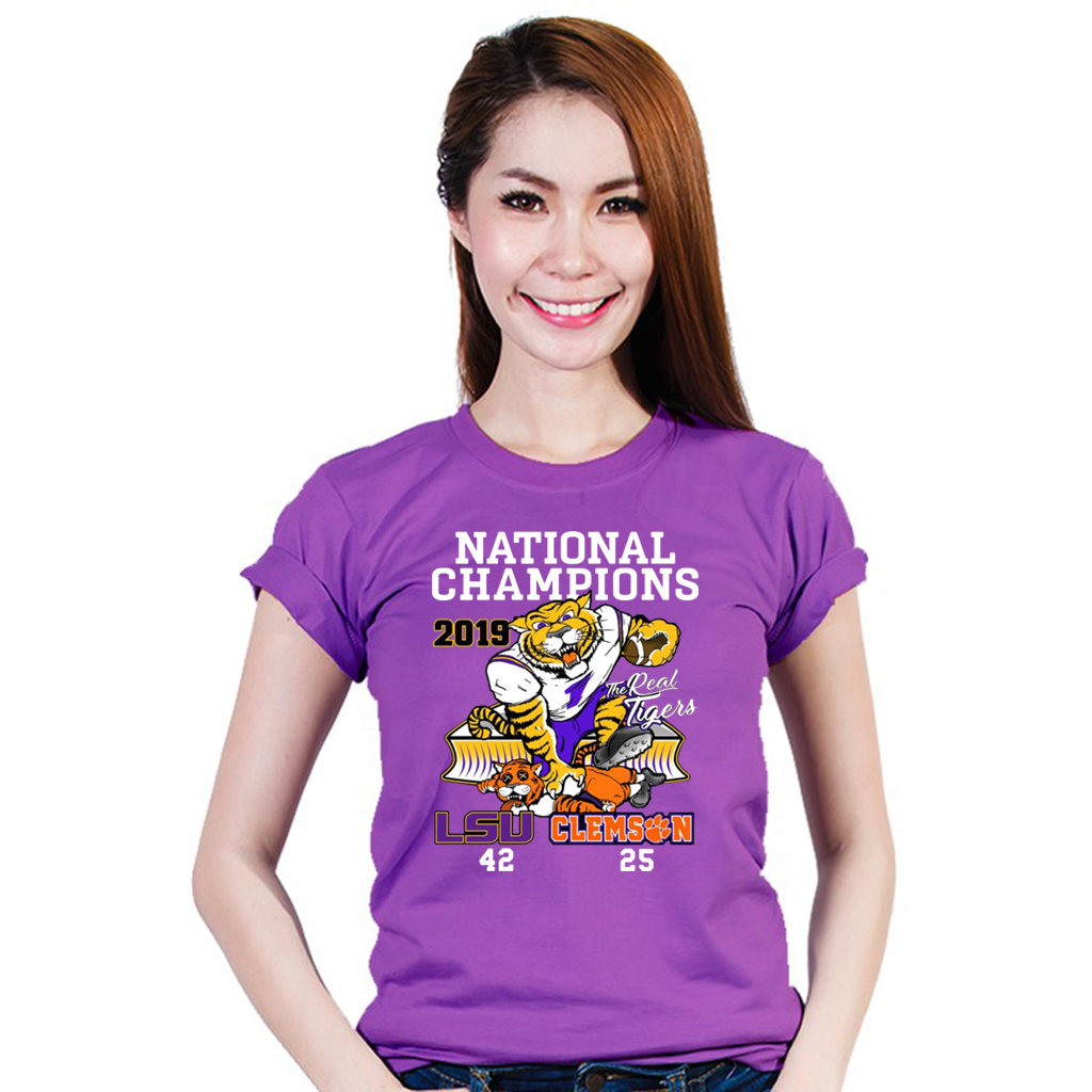 LSU Tigers College Football Playoff 2019 National Champions Official T-Shirt