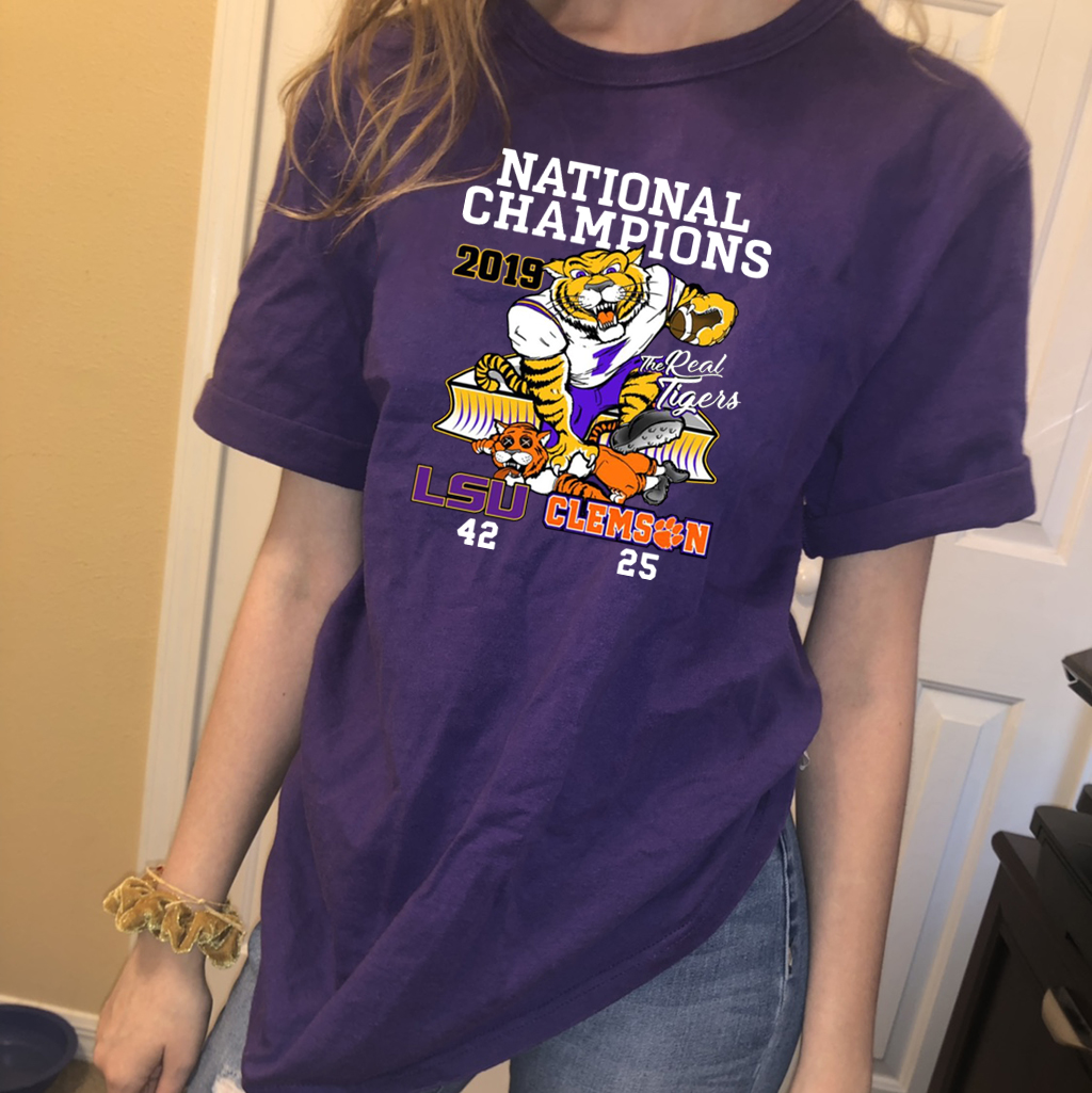 LSU Tigers College Football Playoff 2019 National Champions Classic T-Shirt