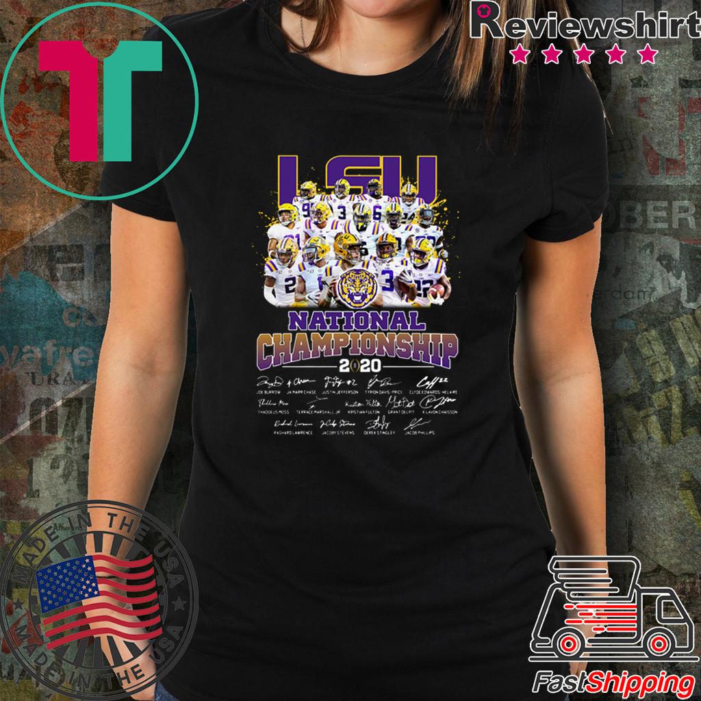 LSU Tigers Players National Championship 2020 Signatures Shirt