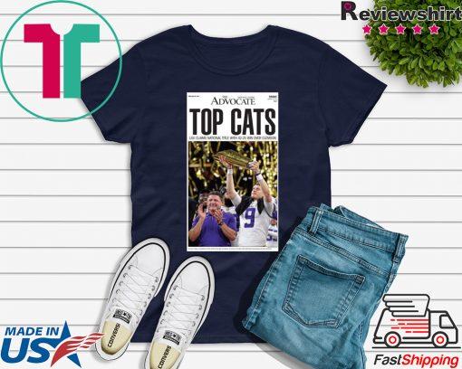 LSU vs Clemson 2020 National Championship-TOP CATS T-Shirts