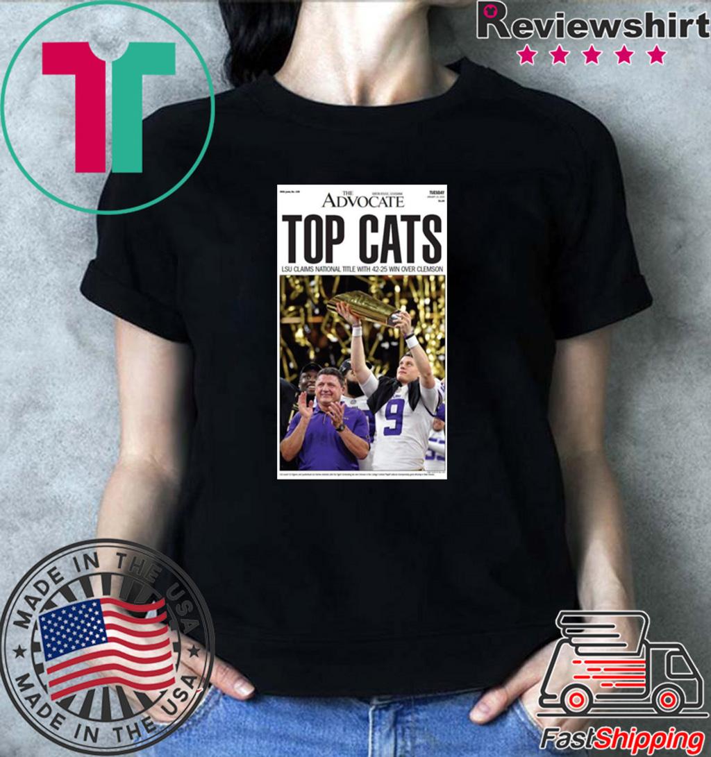 LSU vs Clemson 2020 National Championship TOP CATS Offcial T-Shirt