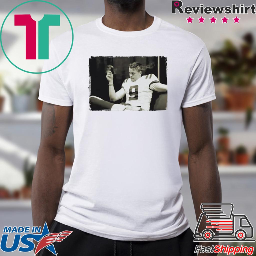Smoking Joe Burrow Shirt