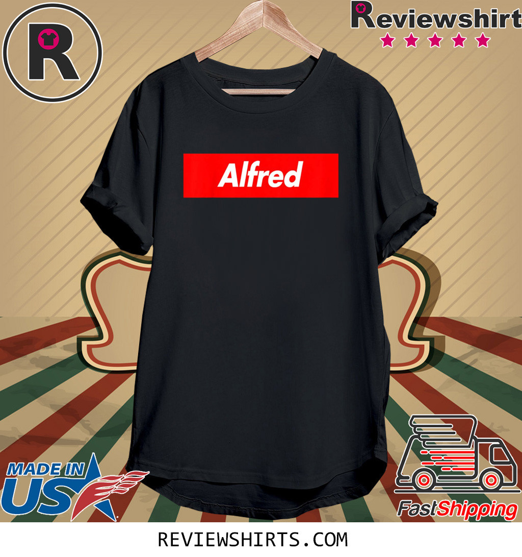 Alfred Red Box Logo Shirt